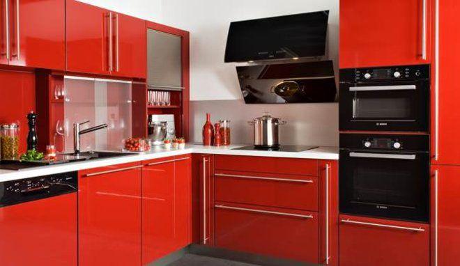 Quelle couleur pour une pièce à vivre ouverte sur une cuisine rouge - Photo Cuisine Rouge Et Grise