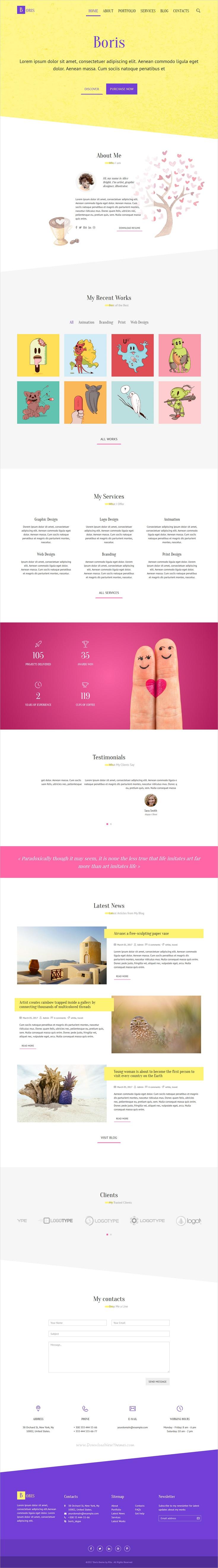 Boris Creative Portfolio HTML Template Creative