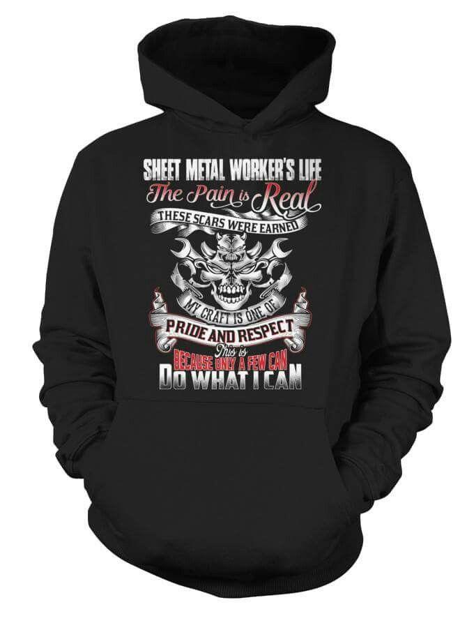 Sheet Metal Workers Men Short Sleeve Hoodie Tee Metal