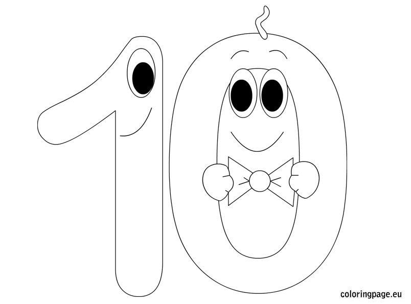 Number Ten Okul Oncesi Okul Anaokulu Matematigi