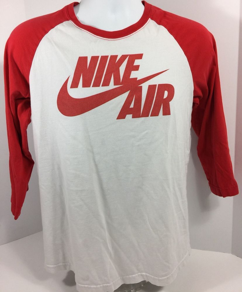 uk cheap sale promo codes pretty cheap Nike Air Vintage Baseball Style T Shirt Long Sleeve Medium 90's ...