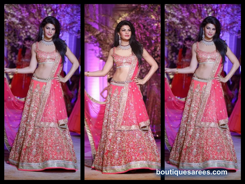 jacqueline fernandez in bridal lehenga choli | My Big Fat South ...