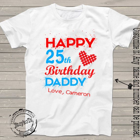 Happy Birthday Daddy Shirt For Dad Grandpa Papa Pops By StoykoTs