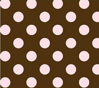 Pink Polka Dots Brown Woven Pack N Play Graco Sheet