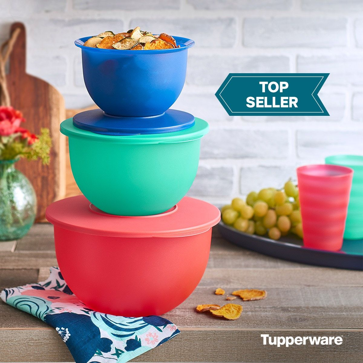 Tupperware Impressions Classic Bowl Set In 2020 Tupperware Bowl Classic Bowls