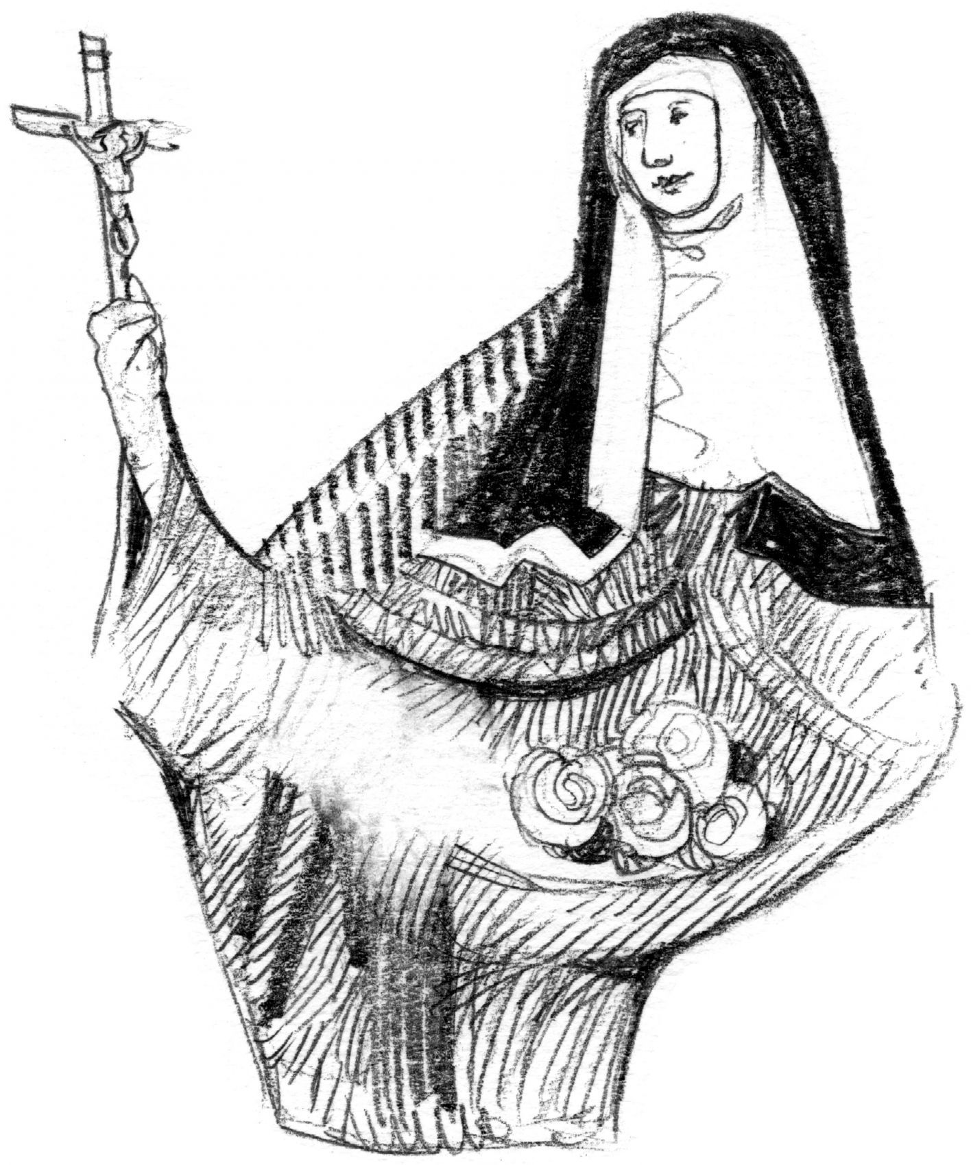 Elisabetta del Portogallo, regina e francescana secolare (1271-1336), santa 04 LUGLIO  illustrazioni di Luca Salvagno