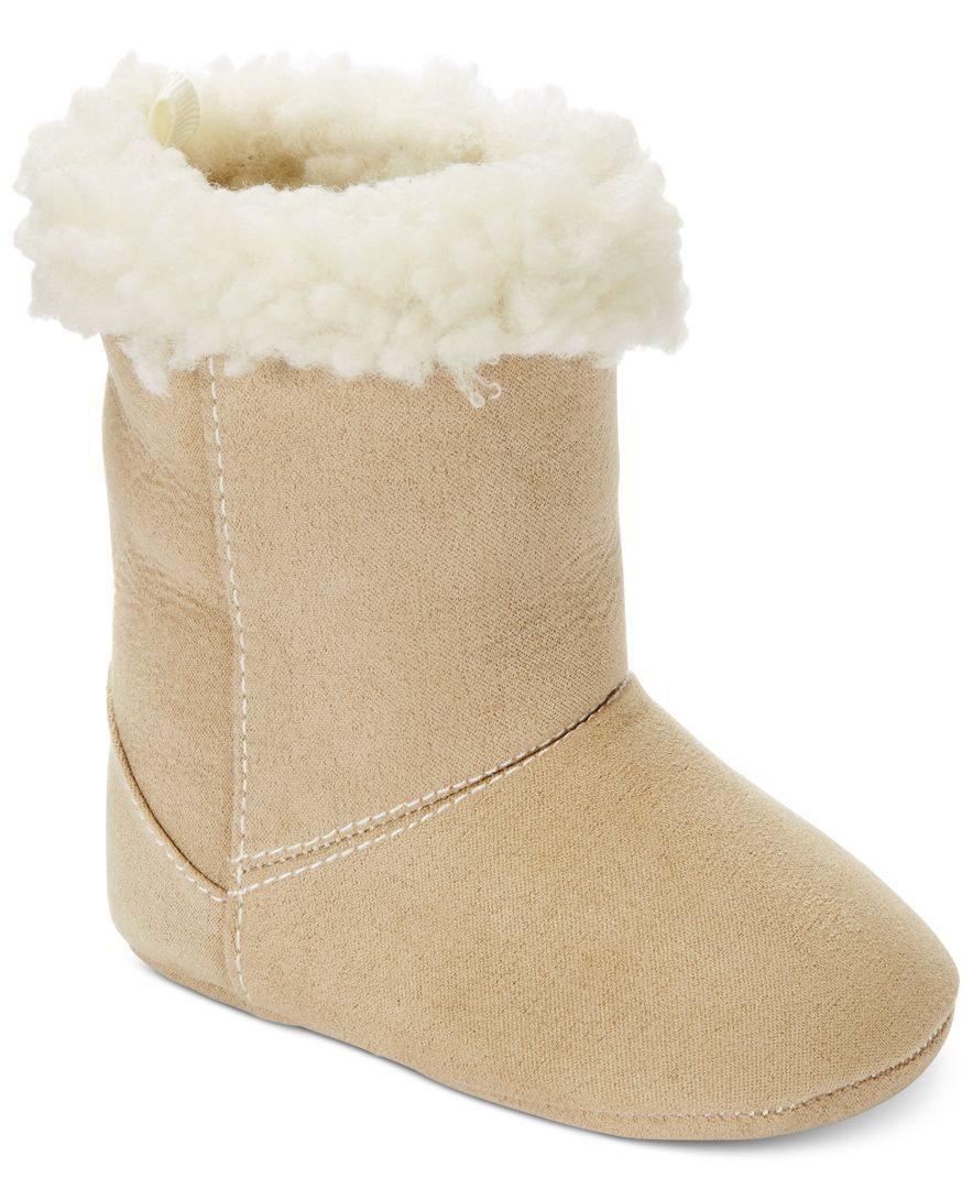 First Impressions Baby Girls' Tan Faux-Fur Boots, Only at Macy's