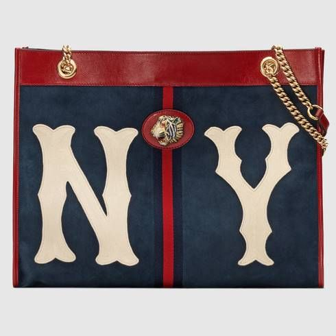 7ed750b839 Rajah large tote with NY Yankees™ patch | Fashion Hunter | Gucci ...