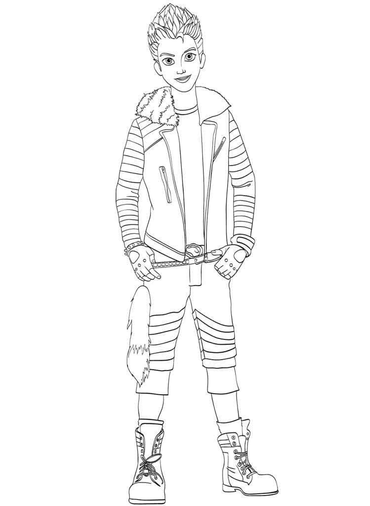 Descendants Printable Coloring Pages Easy Coloring Pages For Descendants Carlos Printable Dis In 2020 Descendants Coloring Pages Coloring Pages For Kids Coloring Pages