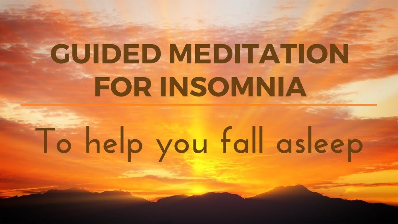GUIDED MEDITATION FOR INSOMNIA to help you fall Asleep CALM Space