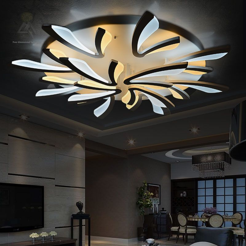 White Remote Control Ceiling Lights For Living Room Bedroom Hallway Home Lamp Acrylic LED Lampara