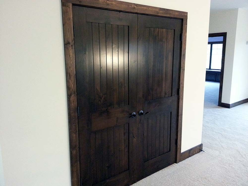 Prefer This Super Dark Stained Doors With Dark Wood Trim For Interior  Doors. (not