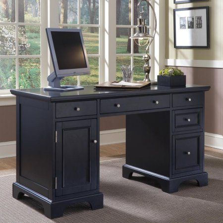 buy home office furniture give. Home Styles Bedford Pedestal Computer Desk - Give Your Office An Executive Makeover With The . Buy Furniture E