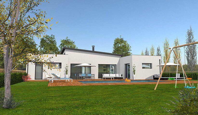 Maison contemporaine de plain pied 132 m 4 chambres maison contemporaine maison maison - Voir ma maison en direct ...