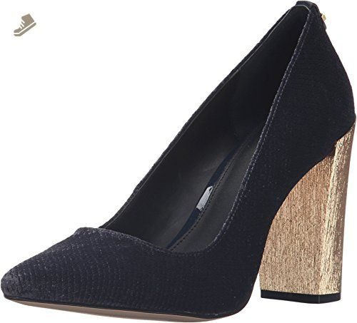 Womens Shoes Calvin Klein Calida Deep Navy Kid Suede/Patent