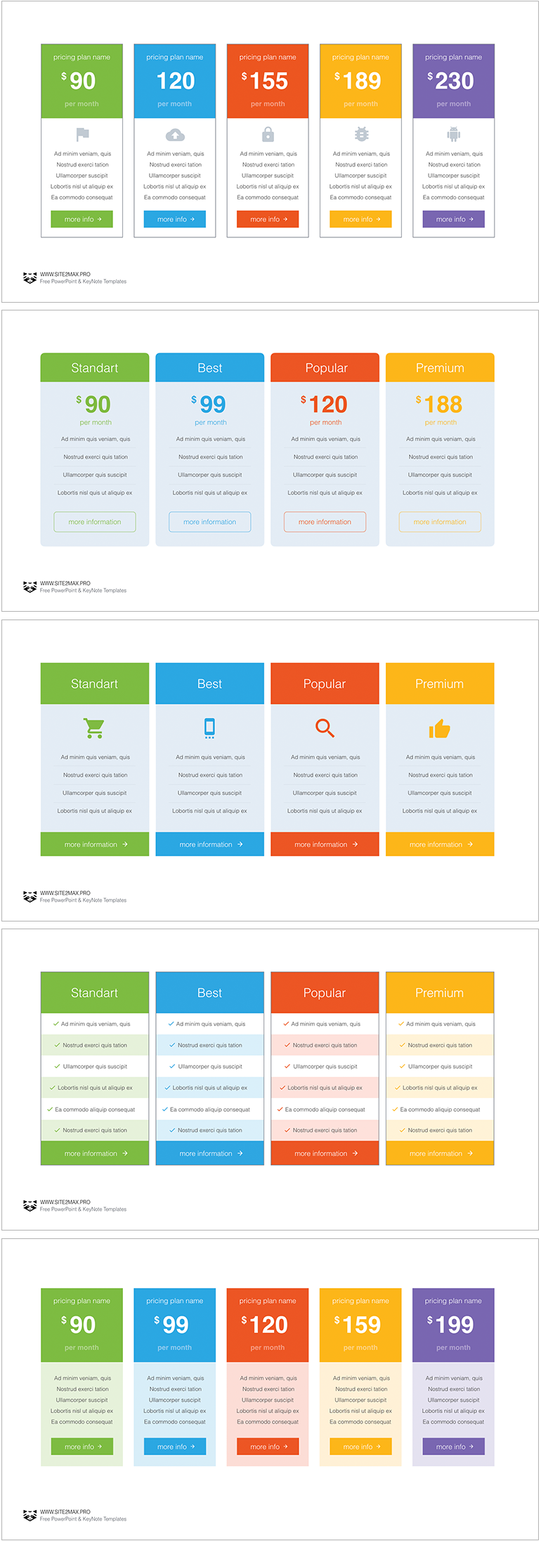 Pricing Tables Ppt Type 2 Powerpoint Elements For Presentation