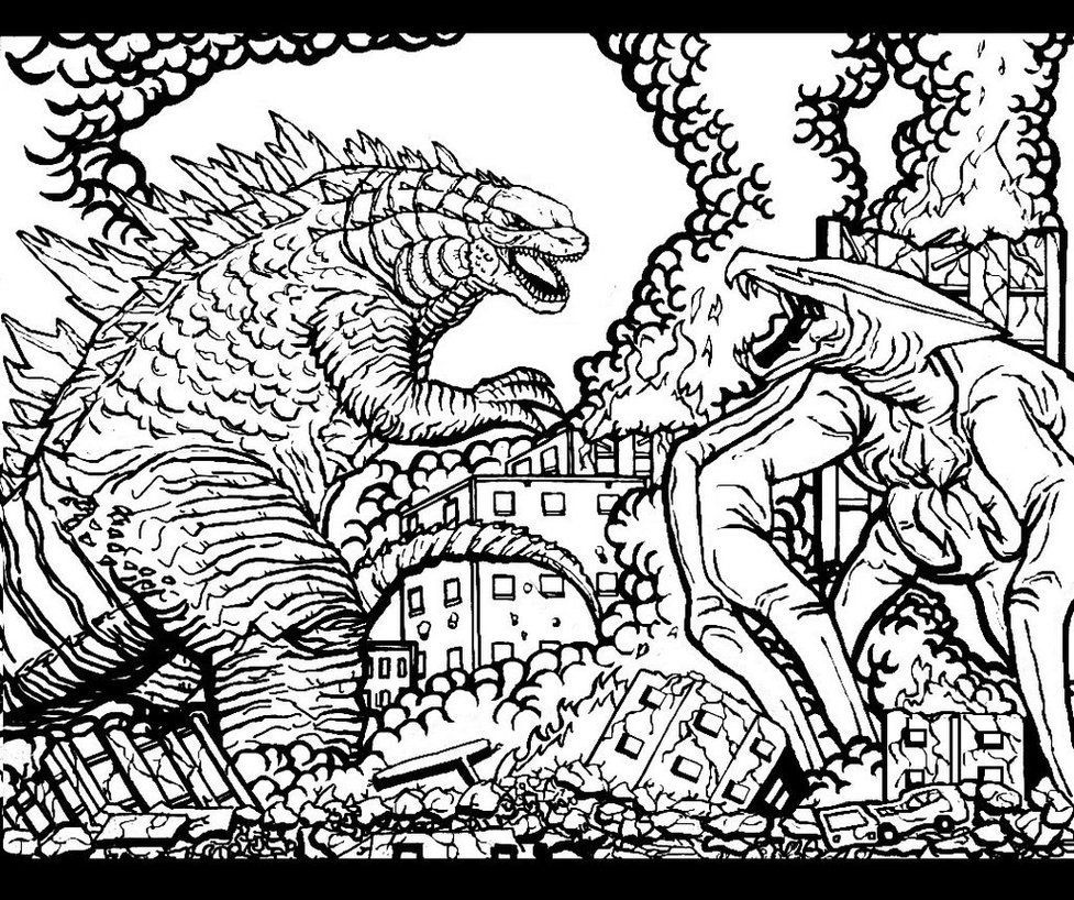 Godzilla Coloring Pages Coloring Pages Godzilla Birthday Godzilla Birthday Party