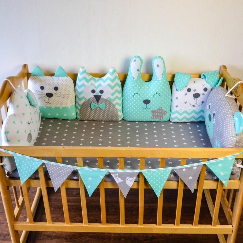 Crib bumpers - Baby bed bumper - Crib bedding - Co