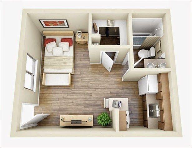 10 Ideas For One Bedroom Apartment Floor Plans S Izobrazheniyami Kvartira Chertezhi Doma