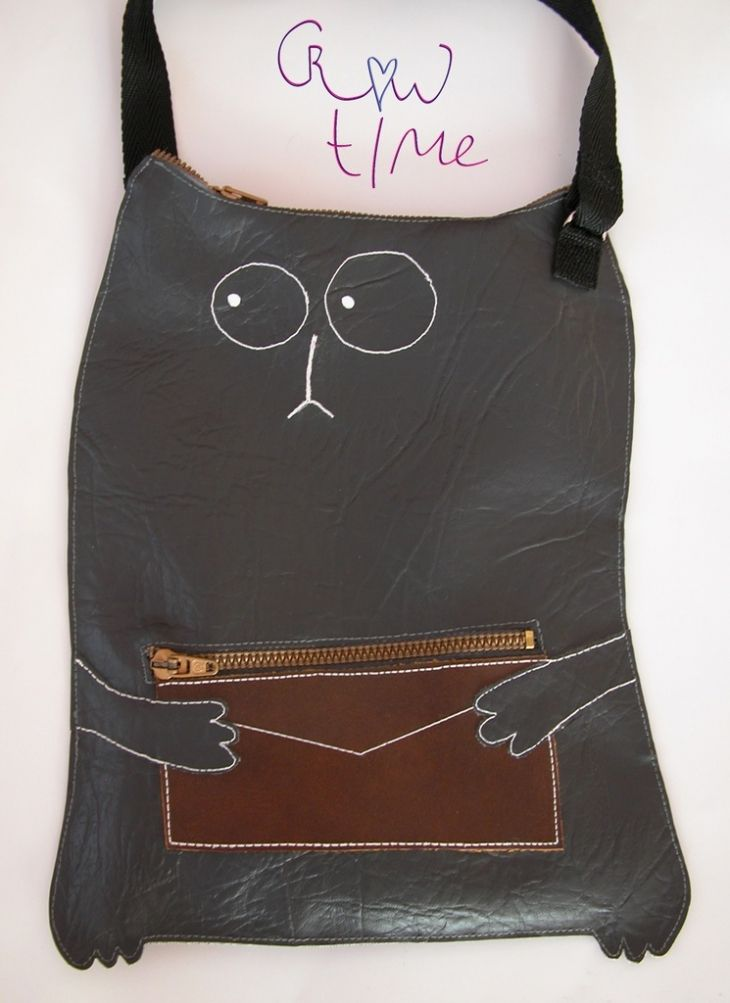 Simon's cat leather bag