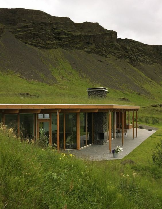An Amazing Mountainside Grass Roof Home With A Well Designed Contemporary  Interior. Beautiful Home