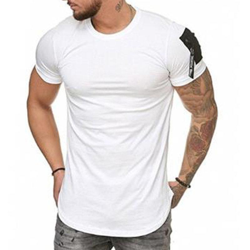 Summer Men/'s Printed T-Shirts Short Sleeve Slim Fitness Casual Sport Tee Tops CA