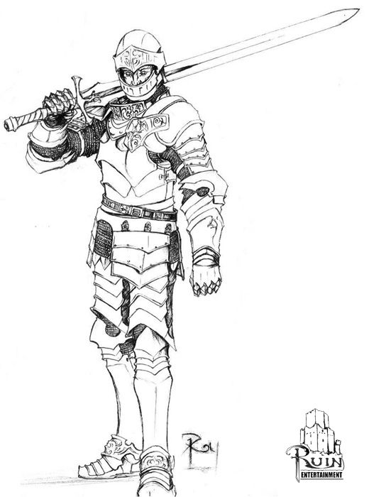 Fighter Warrior Paladin Cavalier Knight Barbarian Fantasy