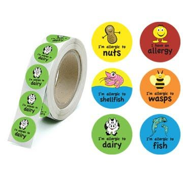 Very cute allergy stickers for preschoolers allergies - Stickers protection cuisine ...