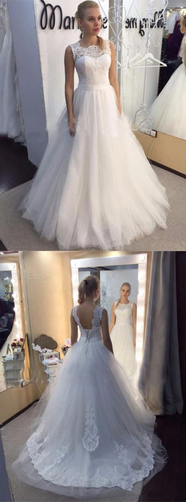 161 09 Dresswe Supplies Straps Lace Top Up Liques Wedding Dress