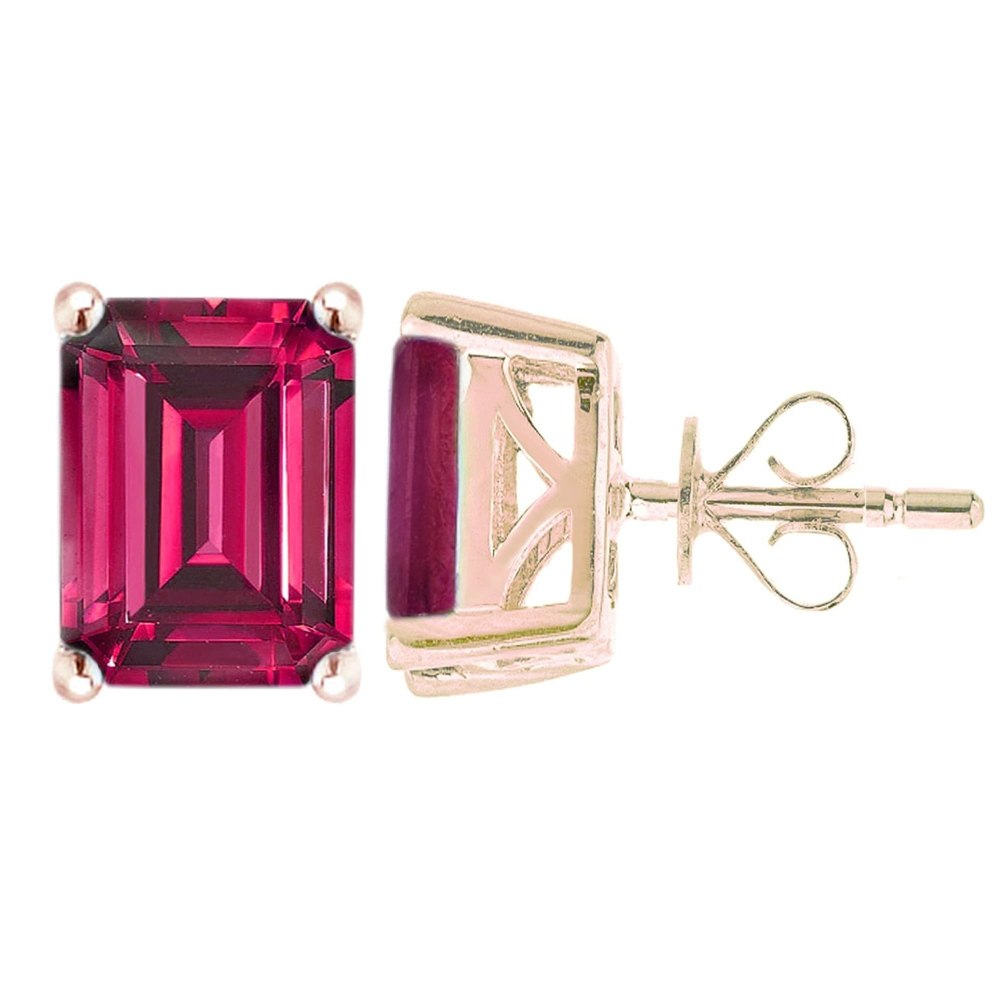 flower ruby and gold avanti diamond stud womens image earrings from
