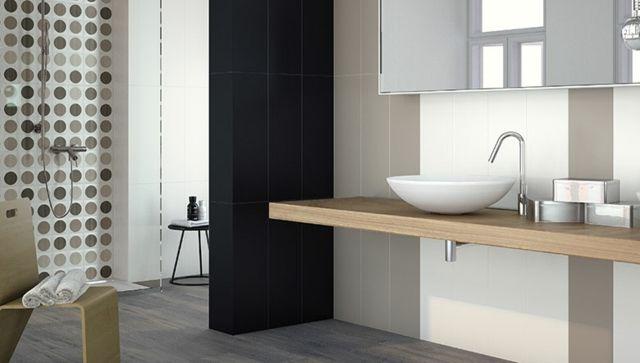 GroBartig Badezimmer Fliesen Ideen Modern Braun Punkte