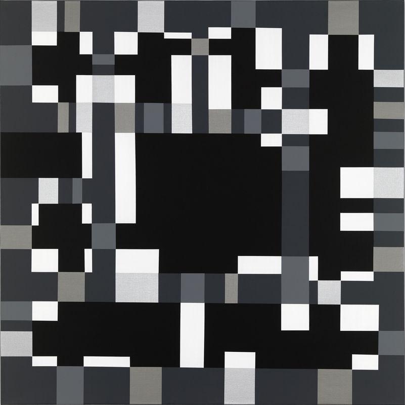 "socialclaustrophobia: "" Rita Ernst (Swiss, b. 1956), Cristallina Ⅲ, 2007. Acrylic on canvas, 140 × 140 cm. via """