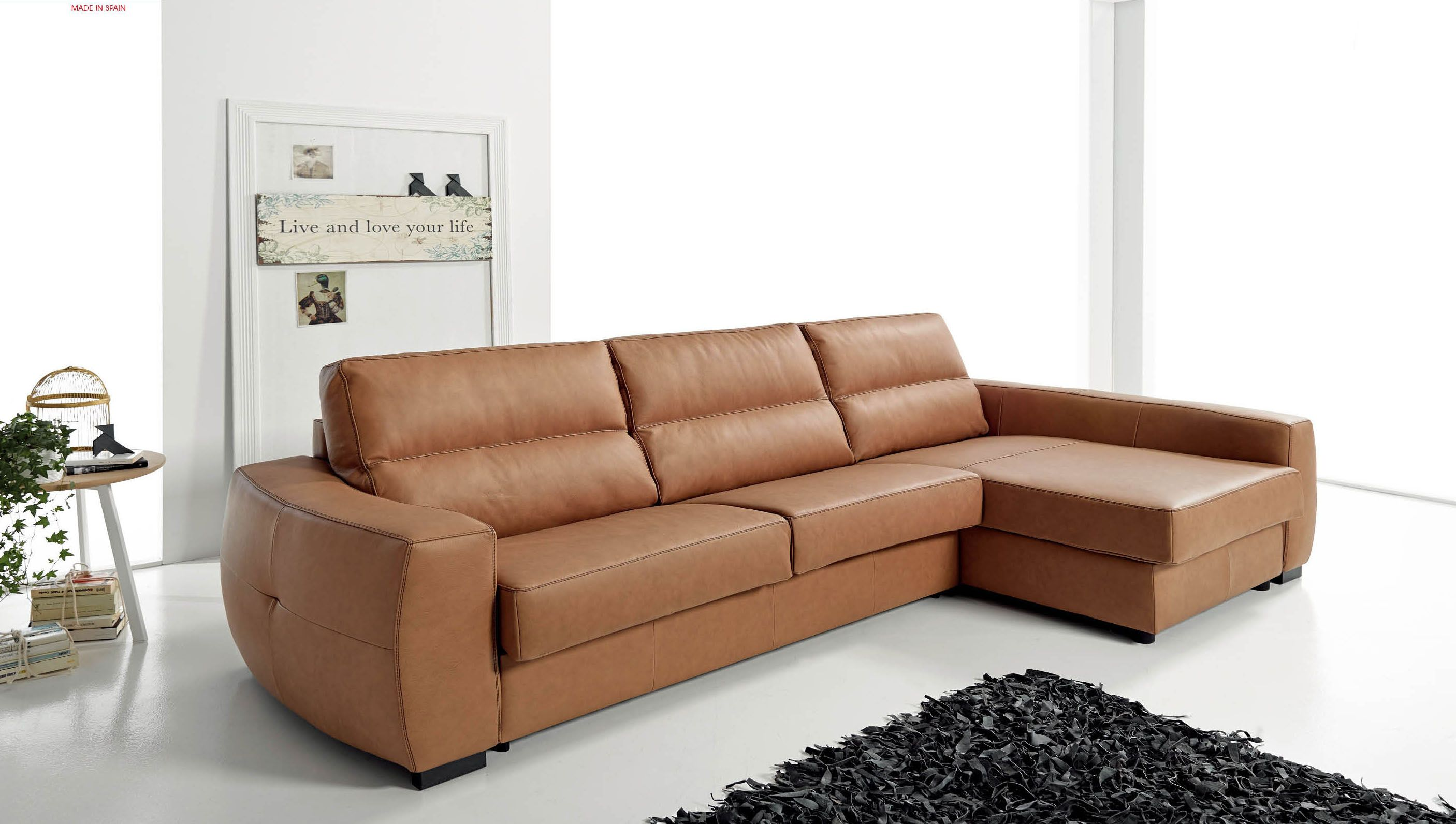 Real Leather Sectional Sleeper With Pull Out Bed Sectional Sofa Sectional Sleeper Sofa Esf Furniture