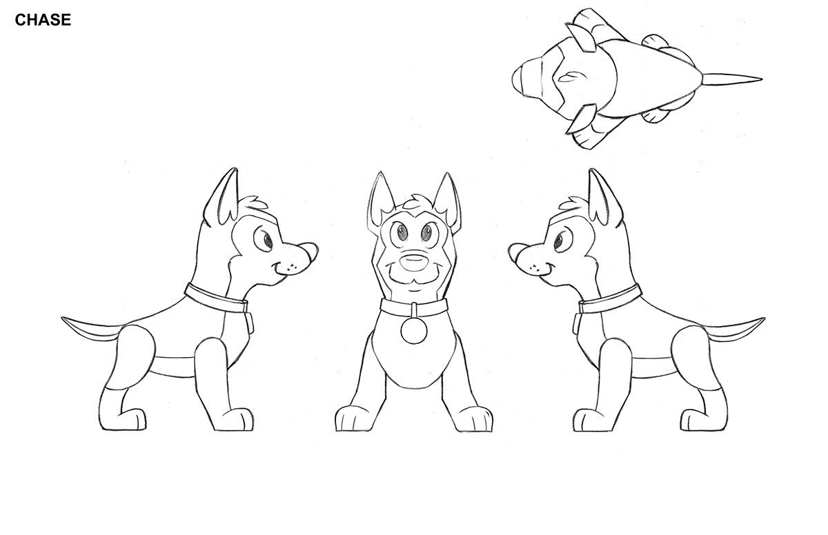 Paw patrol figure views on behance character blueprints pinterest paw patrol figure views on behance malvernweather Gallery