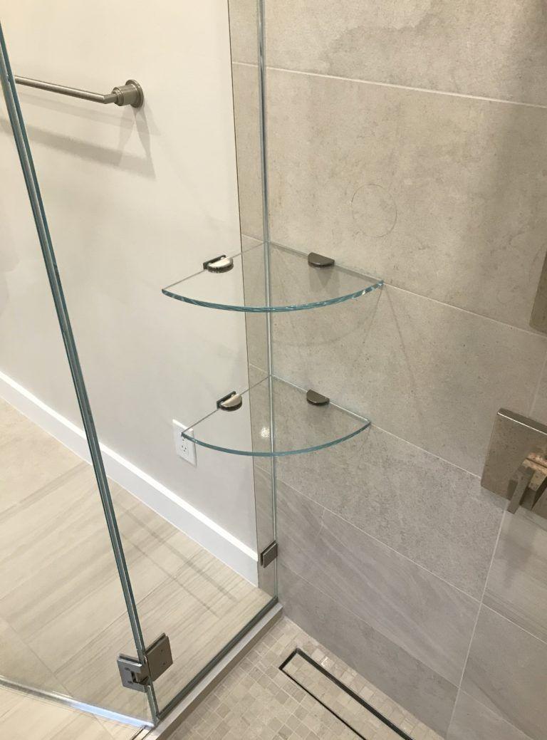 Custom Shower Niche With Glass Shelf Caledon Tile Renovation