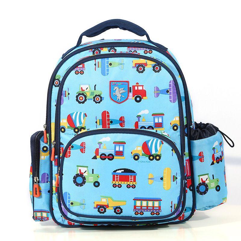 2017 Fashion Unisex Children Cartoon Car Pattern School Bags For Girls Large Capacity Backpack Boys