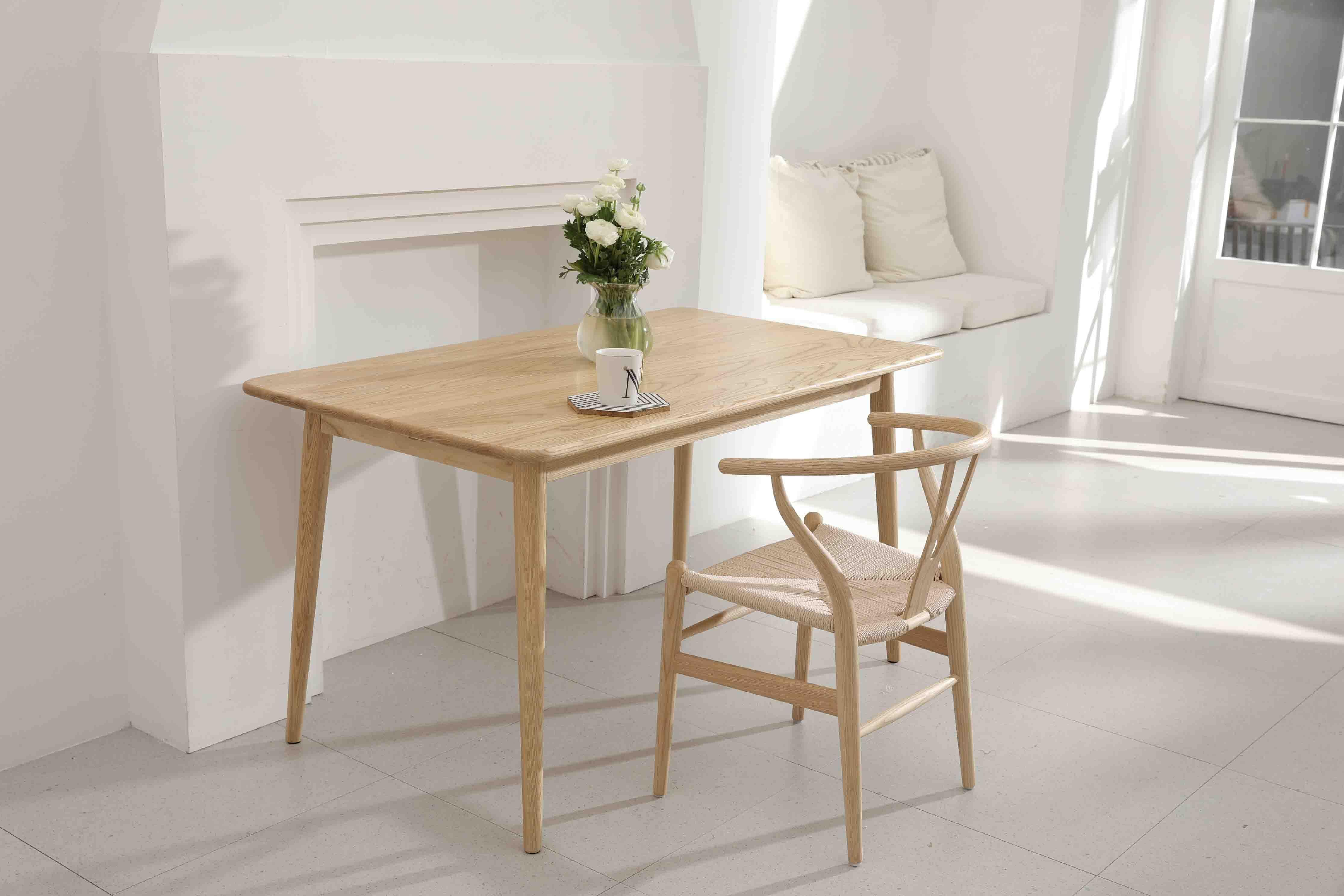 Photo of High-Grade Solid Wood Table-ASH WOOD – 1m*80cm