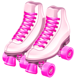 Pin By Maria Angelina On Clipart 2 Pink Roller Skates High Top Sneakers Converse Chuck Taylor High Top Sneaker