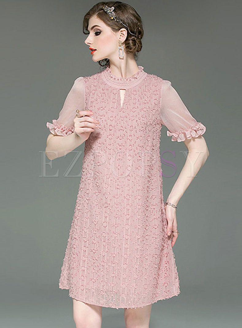 Fashion Tassel Short Sleeve Shift Dress Tassels Fashion Shift Dress Short Sleeve Shift Dress [ 1066 x 789 Pixel ]