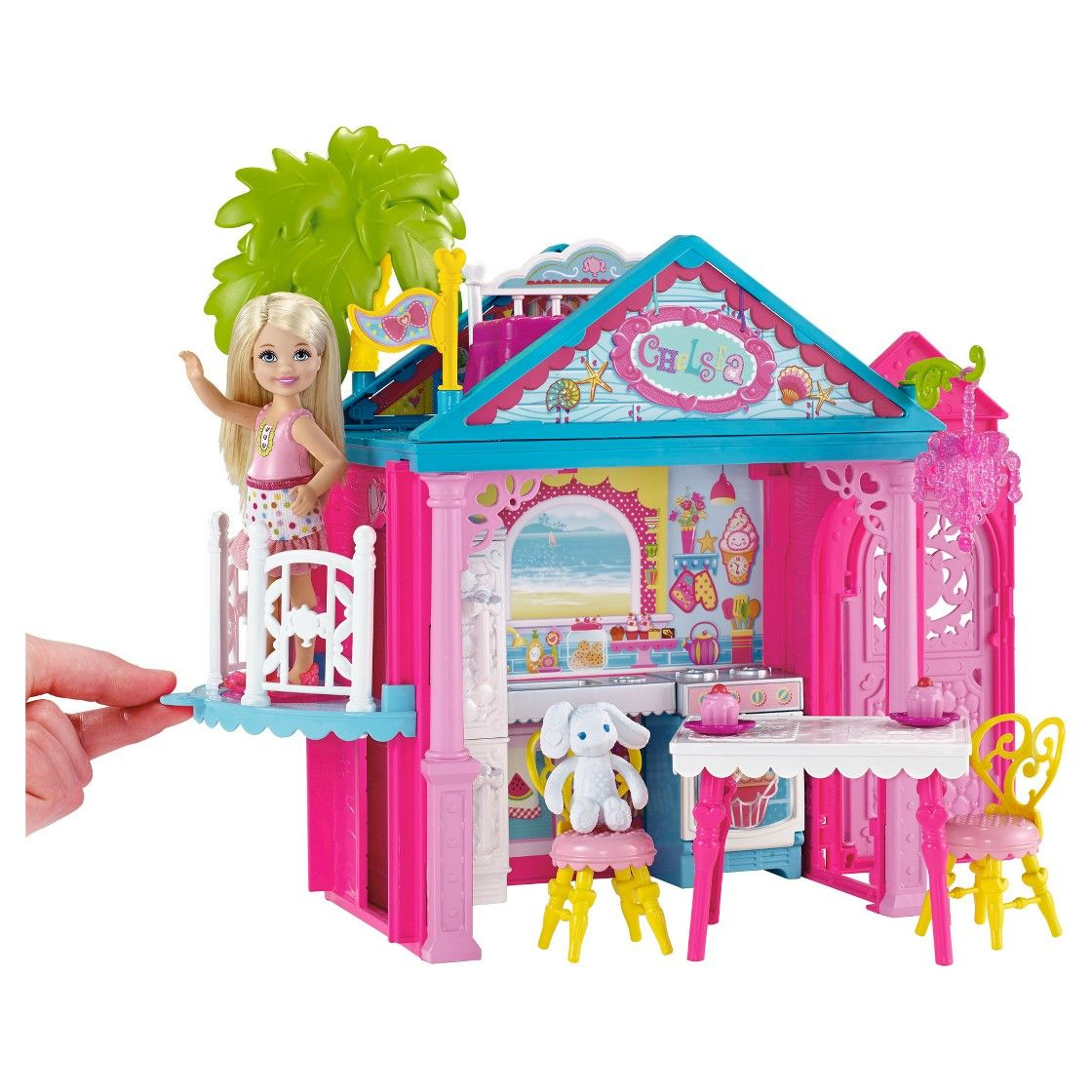 Barbie deluxe furniture stovetop to tabletop kitchen doll target - Barbie Club Chelsea Doll And Playhouse