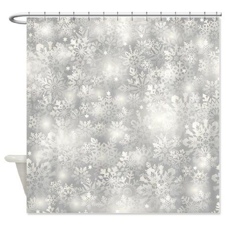 Buy Cafepress Snowflakes Shower Curtain Standard White In Cheap