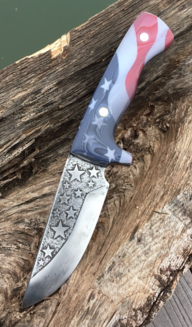 How to make a Patriotic knife with American Flag handles