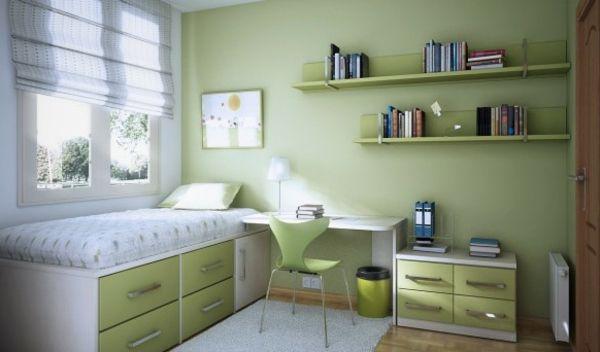 schreibtisch wei e bettw sche und gr ne wandfarbe f rs. Black Bedroom Furniture Sets. Home Design Ideas