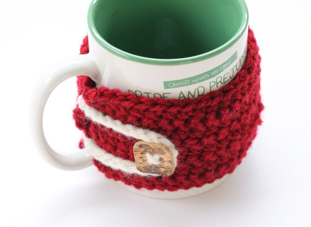Free Pattern For A Crochet Cup Cozy With Button Fastening Crochet
