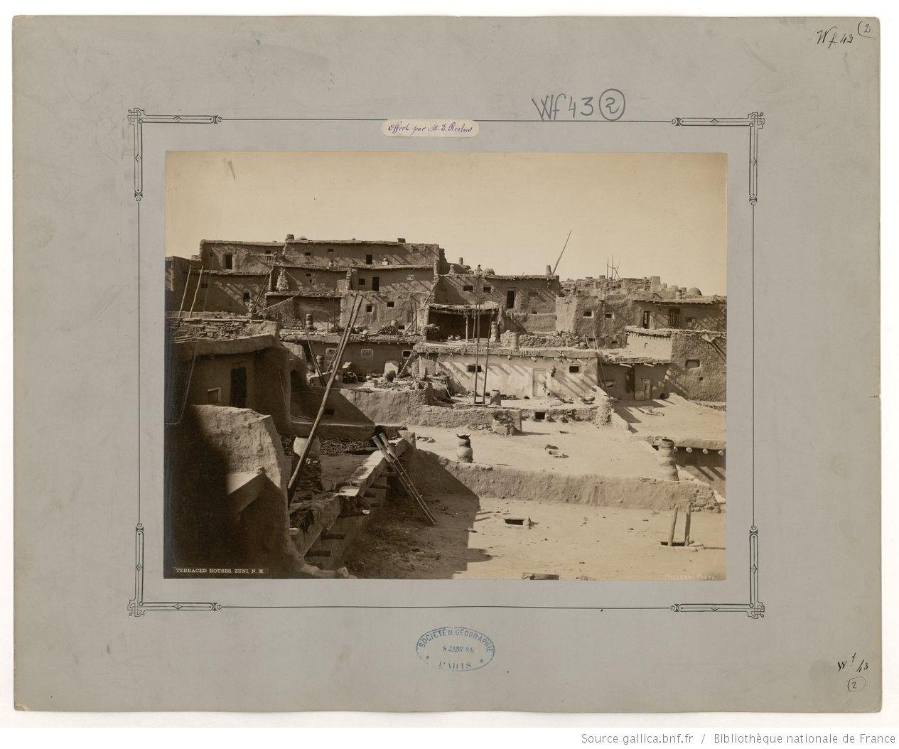 F. 2. Terraced Houses, Zuni, N. M.;