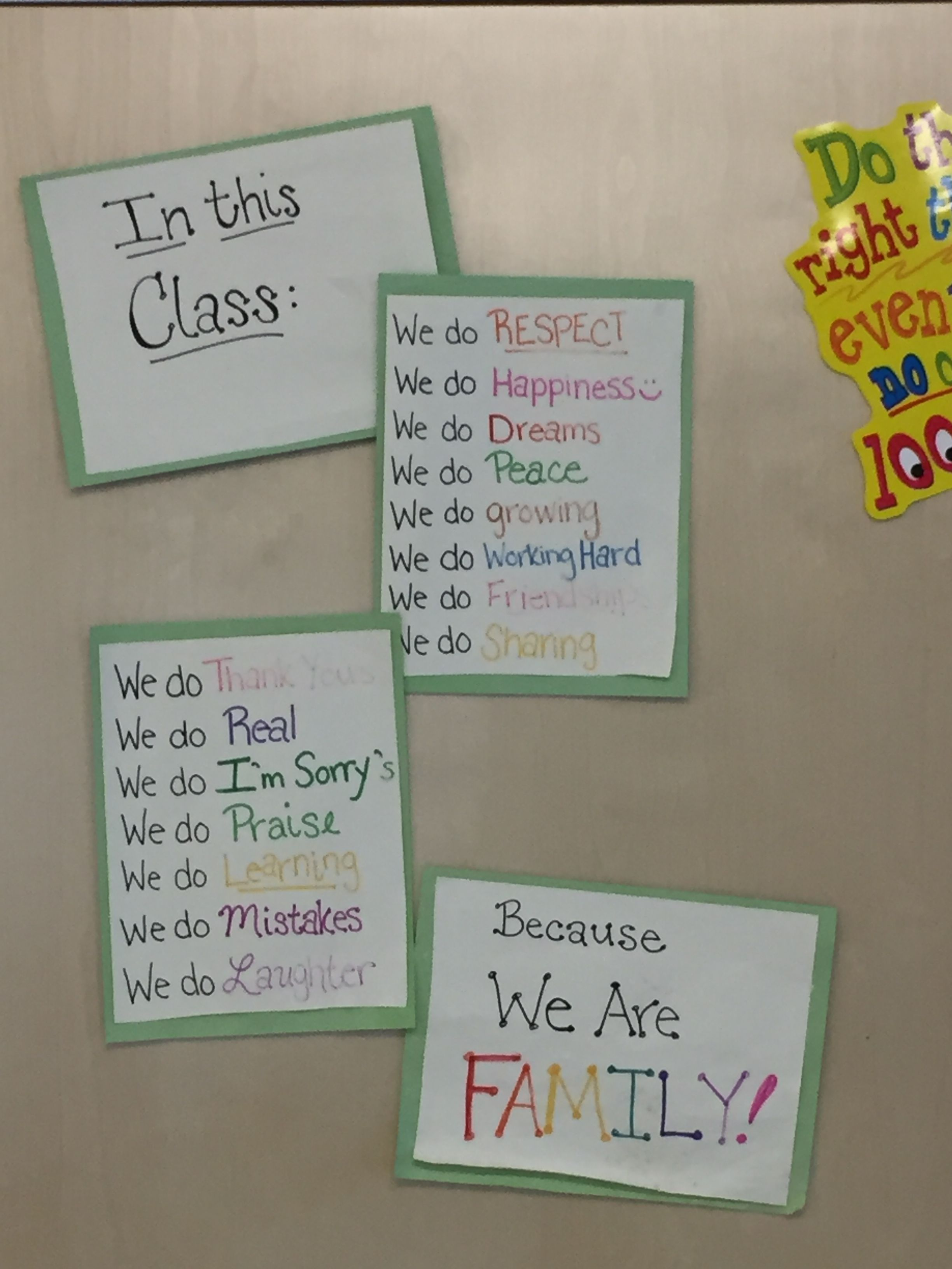 Classroom Rules From Our Varsity Room At Our Murfreesboro