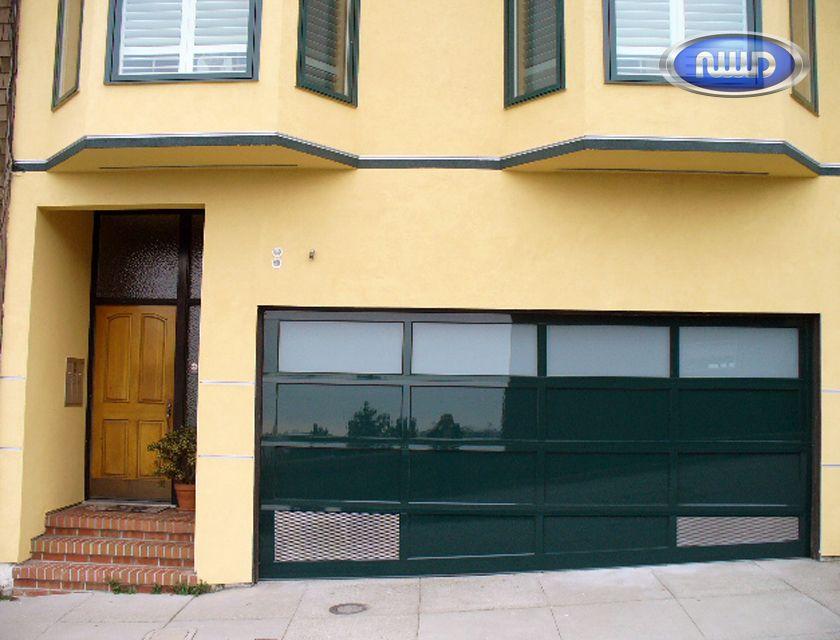Modern Classic Full View Aluminum Frame Custom Garage Door