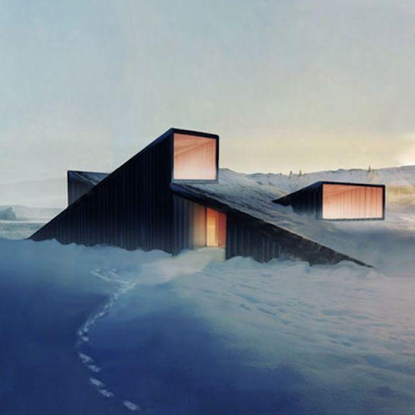 Unique and sustainable architecture norwegian architects for Mountain lodge architecture