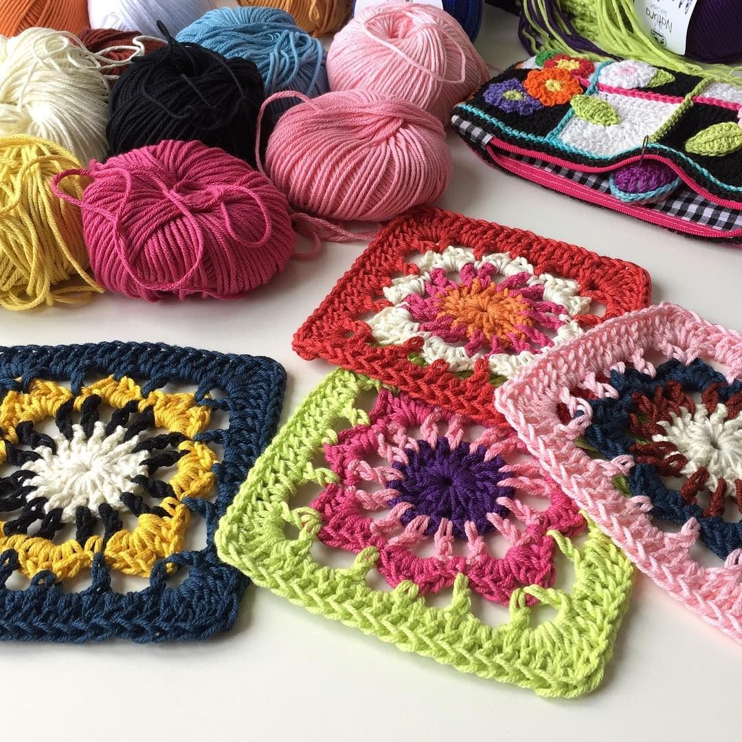 """1,139 Likes, 36 Comments - Marianne Dekkers-Roos (@marretjeroos) on Instagram: """"Granny squares for my """"Lenize Cushion Roll"""" - pattern in my book """"Colorful Crochet"""" / """"Eindeloos…"""""""