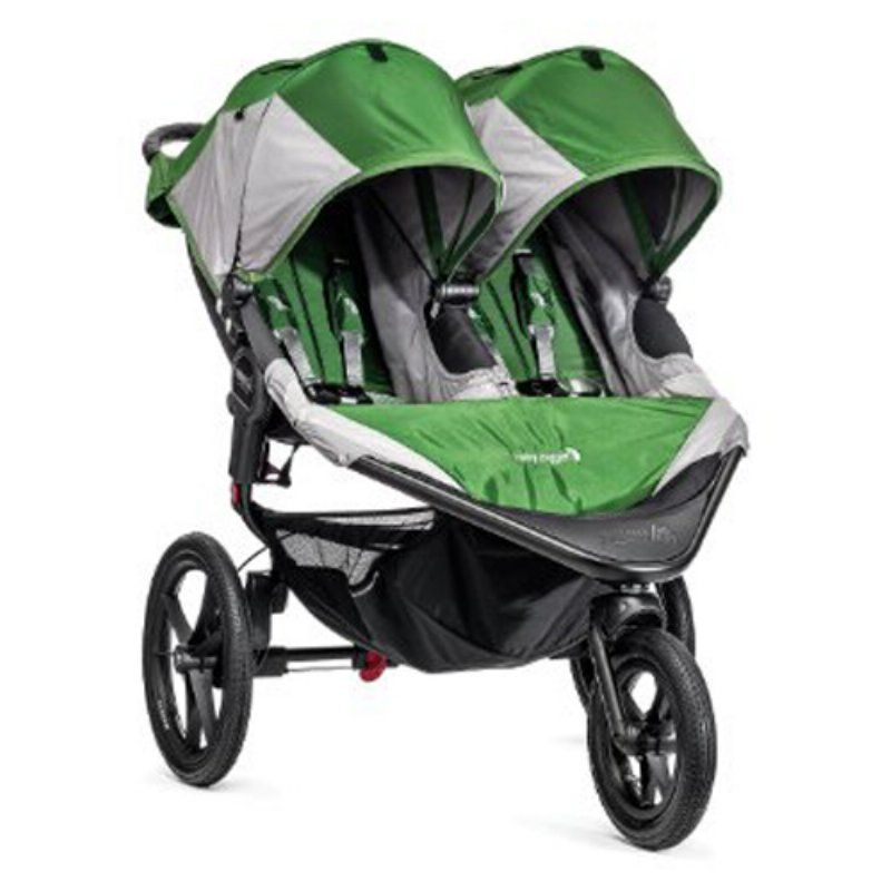 Baby Jogger Summit X3 Double Stroller - Green - 1959593